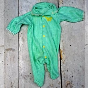Other - Vintage Baby Mint Green Terry Cloth Onesie